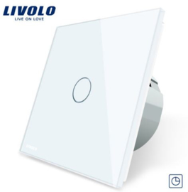 Livolo | White | 1Gang Timer | Wall Touch Switch