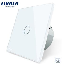 Livolo | Blanc | 1 Bouton Minuteur | Interrupteur Tactile Mural