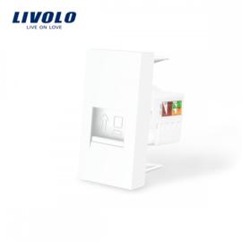 Livolo | Module | Frame | Network RJ45 | White