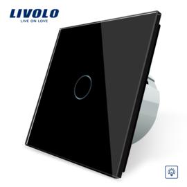 Livolo | Noir | Variateur | 1 Bouton 1 Voie | Interrupteur Tactile Mural