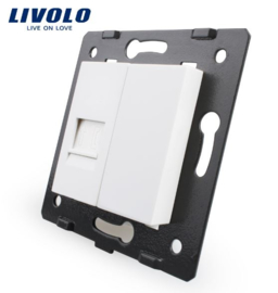 Livolo | Module | Frame | Telephone RJ11 & Cover | White