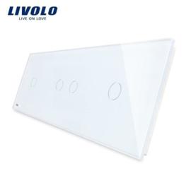 Livolo | Blanc | Panneau De Verre | 1 + 2 + 1 Boutons