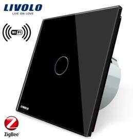 Livolo | Black | 1Gang 1Way | Wall Touch Switch | Wifi/App