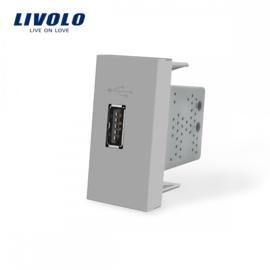 Livolo | Module | Frame | USB 2.1A | Grey