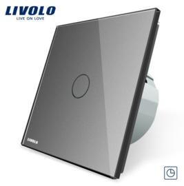 Livolo | Gris | 1 Bouton Minuteur | Interrupteur Tactile Mural