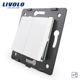 Livolo | Frame | Module | Double |  2 Way | White