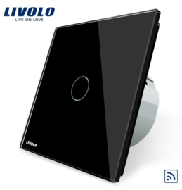 Livolo | Black | 1Gang 1Way | Wall Touch Switch | Remote
