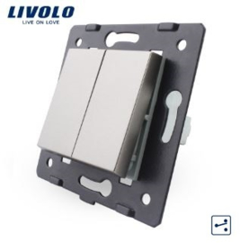 Livolo | Frame | Module | Double |  2 Way | Grey