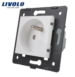 Livolo | Module | Frame |  Socket French | White