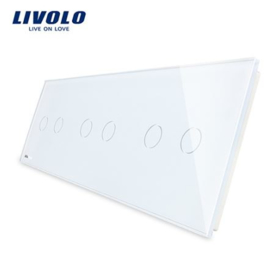 Livolo | White | Glass Panel  | Triple | 2 Gang