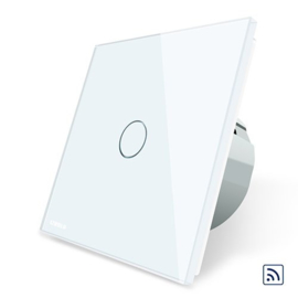 Livolo | White | 1Gang 1Way | Wall Touch Switch | Remote