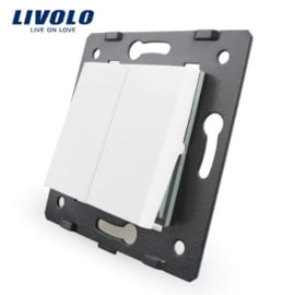 Livolo | Module | Frame | Double | 1 Way | White