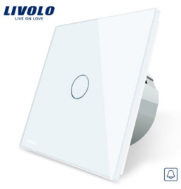 Livolo | White | 1Gang Doorbell/Pulse | Wall Touch Switch