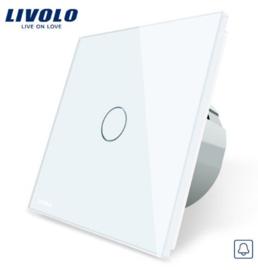 Livolo | Blanc | 1 Bouton Sonnette/Impulsion | Interrupteur Tactile Mural