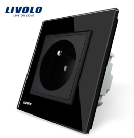Livolo | Black | French | Wall Power Socket