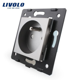 Livolo | Module | Frame |  Socket French | Grey