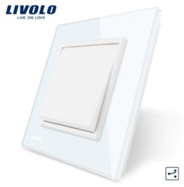 Livolo | White | 1Gang 2Way | Wall Push Switch