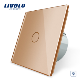 Livolo | Or | Variateur | 1 Bouton 1 Voie | Interrupteur Tactile Mural