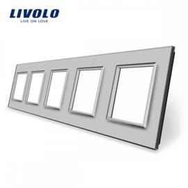 Livolo | Grey | Glass Panel  | Quintuple | Frame