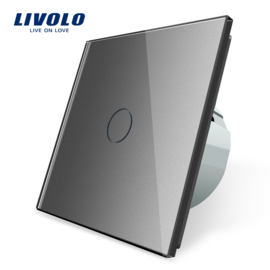 Livolo | Grey | 1Gang 1Way | Wall Touch Switch