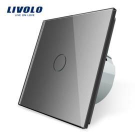 Livolo | Gris | 1 Bouton 1 Voie | Interrupteur Tactile Mural
