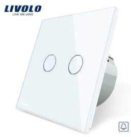Livolo | White | 2Gang Doorbell/Pulse | Wall Touch Switch
