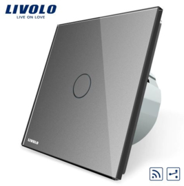 Livolo | Grey | 1Gang 2Way | Wall Touch Switch | Remote