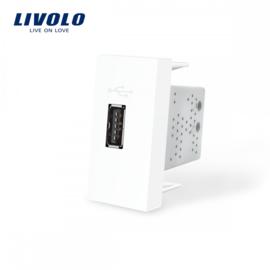 Livolo | Module | Frame | USB 2.1A | White