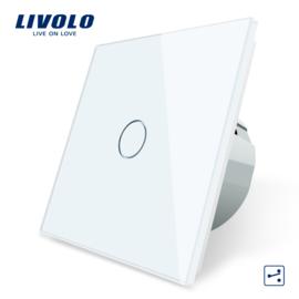 Livolo | Blanc | 1 Bouton 2 Voies | Interrupteur Tactile Mural