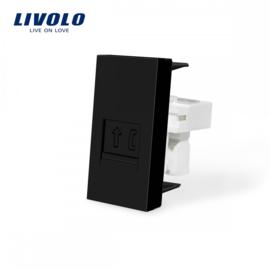 Livolo | Module | Frame | Telephone RJ11 | Black