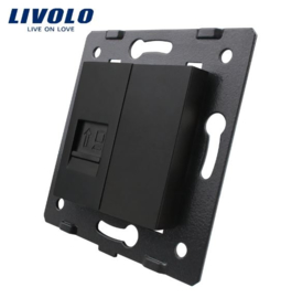 Livolo | Module | Frame | Network RJ45 & Cover  | Black