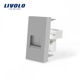 Livolo | Module | Frame | Telephone RJ11 | Grey