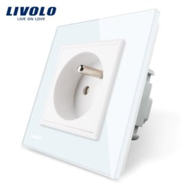 Livolo | White | French | Wall Power Socket