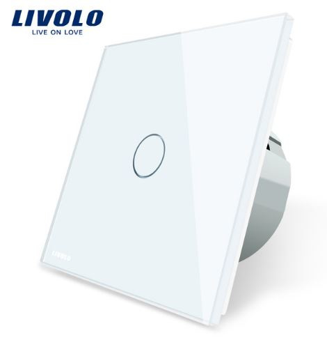 Livolo | White | 1Gang 1Way | Wall Touch Switch