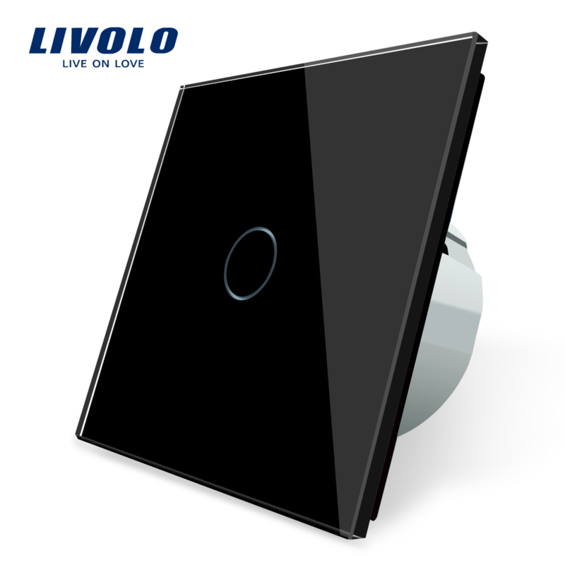 Livolo | Black | 1Gang 1Way | Wall Touch Switch