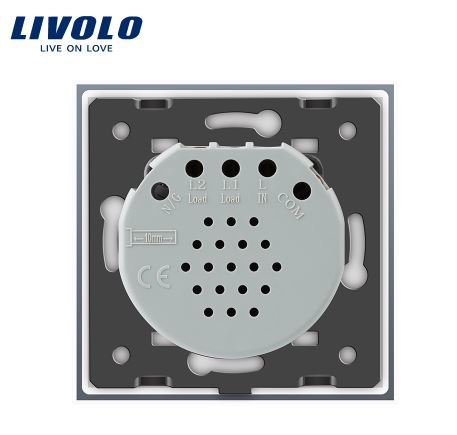 Bathroom Switch | Livolo | Grey | Design | 1Gang 1Way