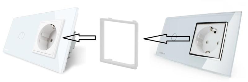 Livolo | Decorative frame for socket | 5pcs | White