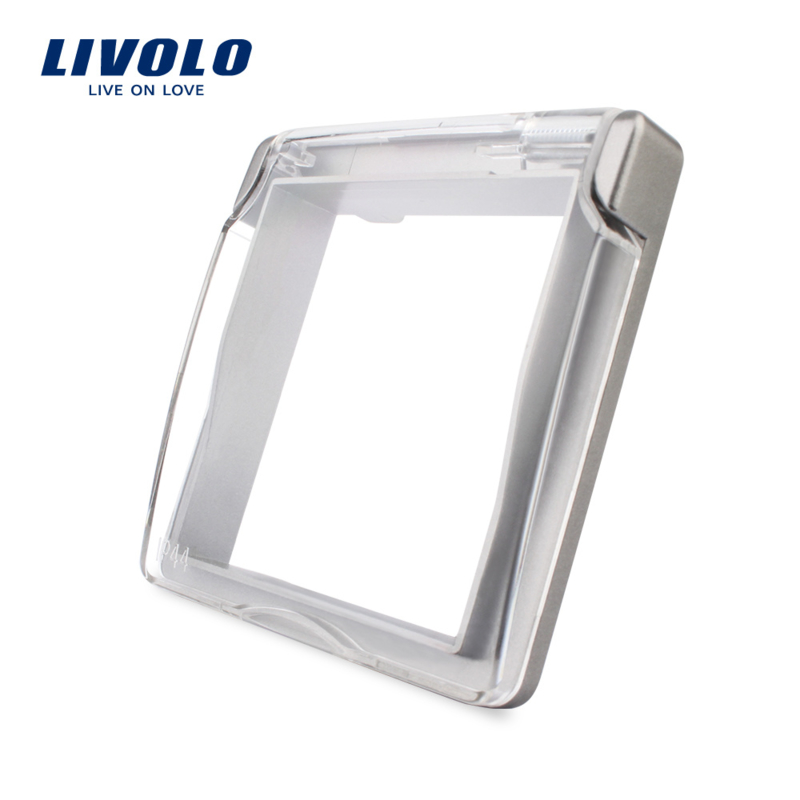 Livolo | Waterproof cover for socket | IP44 | Grey
