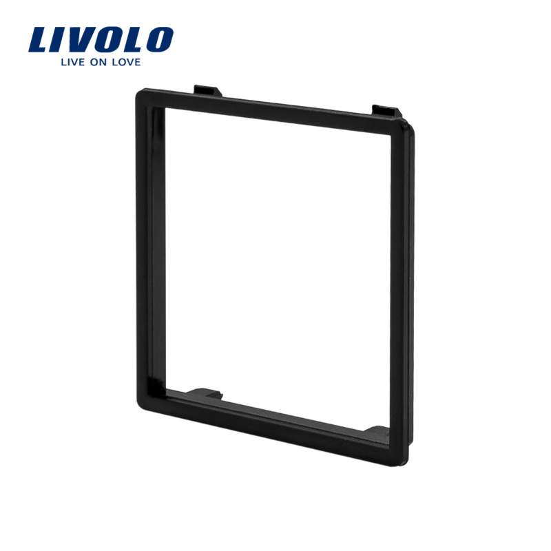 Livolo | Decorative frame for socket | Black