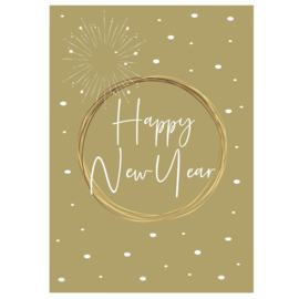 Happy New Year - groen - A6