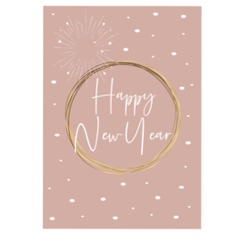 Happy New Year - oud roze - A6