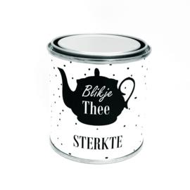 Blikje Thee STERKTE (kado pakketje)