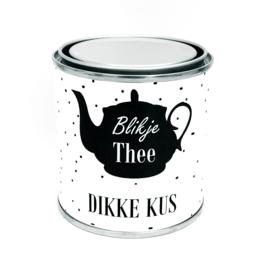 Blikje Thee DIKKE KUS (kado pakketje)