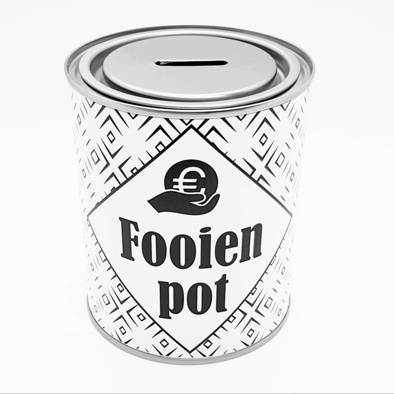 Fooienpot - spaarblik