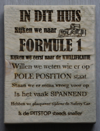 F1 tekstbord klein