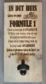 F1 tekstbord met opener