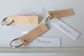 Thank you leather labels with heart