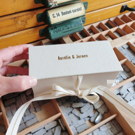 Personalized box for watch & wedding ring