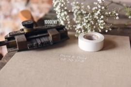 Wedding folder sand linen for 2 certificates A4 (portrait)