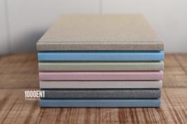 Gastenboek linnen 18 cm x 28 cm (diverse kleuren)